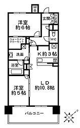 小石川アインス 3階2LDKの間取り