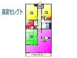 リズ松戸[302号室]の間取り