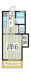 フジコーポ[1階]の間取り
