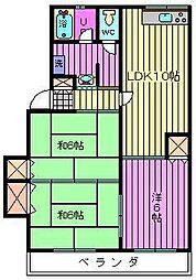 エクセレントスズキA棟[2階]の間取り