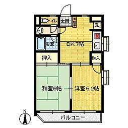 ガーデンハイム桜井[204号室]の間取り
