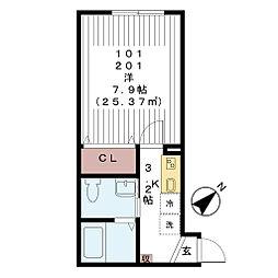 フェリーチェ 八千代中央[1階]の間取り