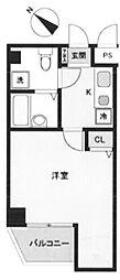 JR山手線 池袋駅 徒歩12分の賃貸マンション 6階1Kの間取り