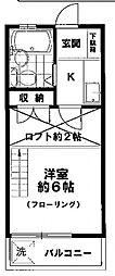 コーポベアー[2階]の間取り