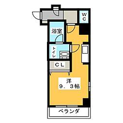 SJ Sakurayama 6階1Kの間取り