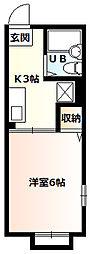 シティハイムエレモア2階Fの間取り画像