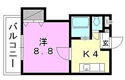 ファミールハイツ[301 号室号室]の間取り