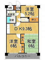 M-PEAKS塚口南[4階]の間取り