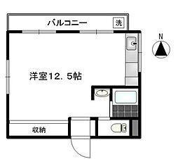 第一力蔵ビル[6階]の間取り