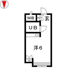 金山ハイホーム[3階]の間取り