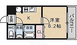 ARATA松原天美東 1階1Kの間取り