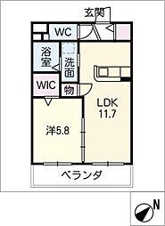仮)O様マンション II[1階]の間取り