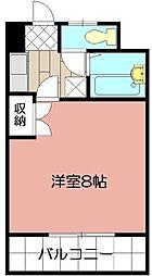 ヤングコーポ北方II[1407号室]の間取り