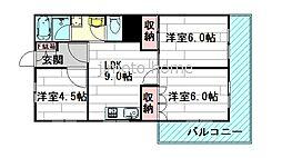 山本マンション[3階]の間取り