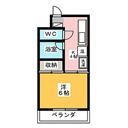 ハイクオリティ秀水[2階]の間取り