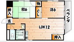 レジデンスカヂアル[3階]の間取り