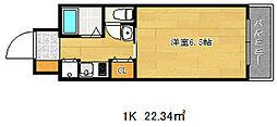 ロイヤル三ツ星2[4階]の間取り