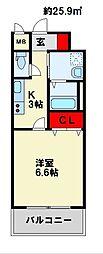 MDIミルファルコ下曽根駅前[7階]の間取り