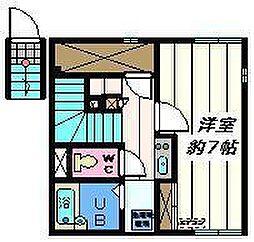 東京都足立区新田3丁目の賃貸アパートの間取り