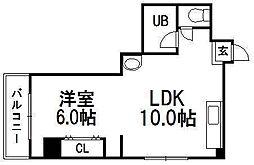 クリスタルファイブ[3階]の間取り