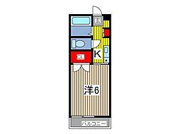 ラシェール蕨[2階]の間取り