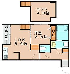 EXA福岡吉塚[1階]の間取り