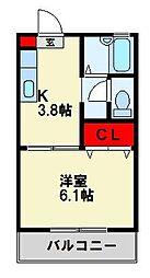 クレアール青山[103号室]の間取り