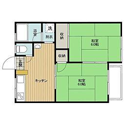 イタクラアパート3号館[5号室]の間取り