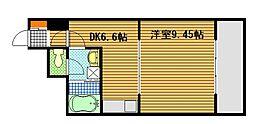 広島県広島市南区翠5丁目の賃貸マンションの間取り