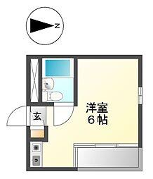プレスイン駒場[2階]の間取り