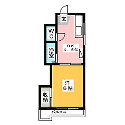 ファッショナルベアー弐番館[3階]の間取り