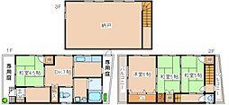 [一戸建] 兵庫県神戸市灘区中原通2丁目 の賃貸【/】の間取り