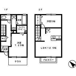 [テラスハウス] 徳島県徳島市安宅2丁目 の賃貸【/】の間取り