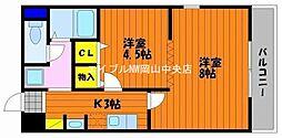 岡山県岡山市南区豊浜町丁目なしの賃貸マンションの間取り