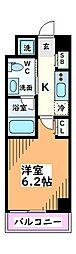 東京都立川市曙町1丁目の賃貸マンションの間取り