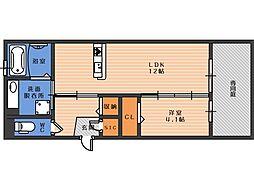 D-roomFUJI[2階]の間取り
