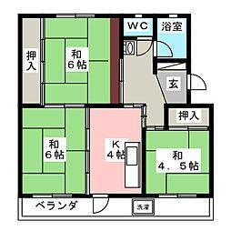 第1中野コーポ[1階]の間取り