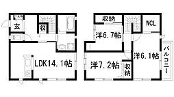 [テラスハウス] 兵庫県伊丹市池尻6丁目 の賃貸【/】の間取り