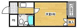 ラフォーレ千本南[4階]の間取り