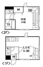 東京都渋谷区代々木5丁目の賃貸マンションの間取り