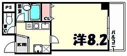 ディーシモンズ神戸[5階]の間取り