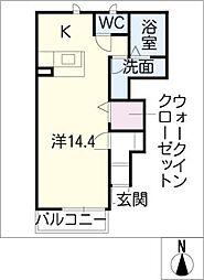 トーラス A棟[1階]の間取り