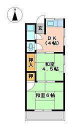 コーポ昭和[1階]の間取り