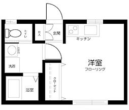 東京都中野区弥生町2丁目の賃貸アパートの間取り