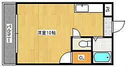 ラフォーレ御井[1階]の間取り