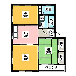 メゾン吉村 B棟[2階]の間取り