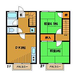 [テラスハウス] 東京都小平市津田町2丁目 の賃貸【東京都 / 小平市】の間取り