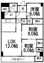 マンションニュー緑台B棟[212号室]の間取り