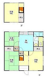 [一戸建] 岡山県岡山市東区広谷 の賃貸【/】の間取り