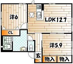 アコールII[2階]の間取り